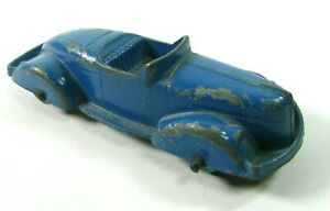 Vtg Tootsie Toy Diecast Royal Blue Convertible 2 Seater Roadster Sedan  USA