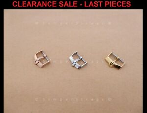 """NOS Watch Strap buckle """"Fat"""" Ω to fit Omega Silver Gold Rose Gold 14mm 16mm 18mm"""