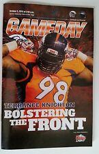 Denver Broncos Vs Cardinals OCT 5th 2014 Terrance Knighton Gameday Program