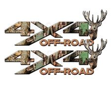 4x4 OFF ROAD Camouflage Real AP Camo Dear Head Decal Sticker! CHEVY DODGE FORD