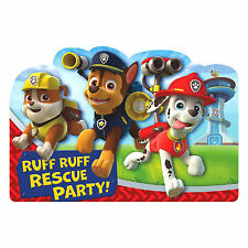 8 Paw Patrol Puppy Pets Birthday Party Invite Invitations Cards plus Envelopes