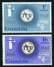 Gambia 210-211,MNH.Michel 205-206. ITU-100.1965.Communication equipment.
