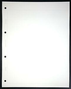 500 x PLAIN PAGES FOR PRESTIGE / ALPHA MAJOR LOOSE LEAF STAMP ALBUM BINDER