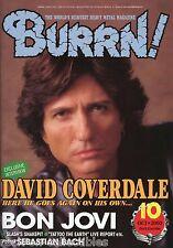 Burrn! Heavy Metal Magazine October 2000 Japan Whitesnake Bon Jovi Slash