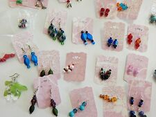 Earrings 100 pairs huge lot Fashion Costume Jewelry Dangle Hooks Posts Beaded