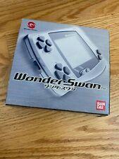 Bandai WonderSwan METALLIC GRAY Boxed as is NOT WORKING