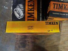 67787 40024 Timken Tapered Roller Bearing Lot # 7