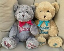 Personalised Large Teddy Bear- Birth Details Name Bear Keepsake
