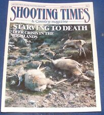 SHOOTING TIMES MAGAZINE JUNE 15-21 1989 - STARVING TO DEATH