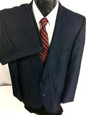 Vtg 50-60's Dimitri Men's Navy Blue Hollywood Atomic Fleck Wool Suit 42 L 40/31
