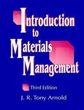 Introduction to Materials Management by Arnold, J. R. Tony, Arnold, J.R. Tony, G