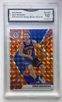 IGNAS BRAZDEIKIS 2019-20 MOSAIC ORANGE REACTIVE PRIZM  ROOKIE KNICKS GMA 10 MINT