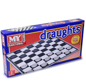 Draughts Checkers Board Game Family Kids Traditional Folding Game