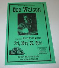 DOC WATSON Concert Handbill / ATL Variety Playhouse May 25, 2001 !!
