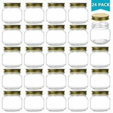 8 Oz Glass Jars With Lids, Ball Wide Mouth Mason For Storage, Canning Caviar, Of