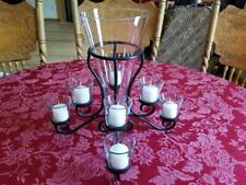 Candle Vase Centerpiece (holds 4 sets of 2 candles) Candles Included