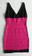 Hot Miami Styles.Com Black/Hot Pink Dress Sz M