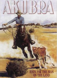 Akubra Hat advertising Tin Sign