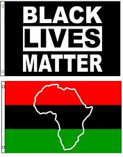 3x5 3'x5' Wholesale Combo African Africa Map & Black Lives Matter 2 Flags Flag