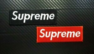 SUPREME SKATEBOARD SPORTS BADGE EXTREME  Iron On Sew On Patch Embroidered LOGO
