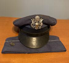 Early U.S. Air Force Officer Visor Cap Major Forrest Sheinwald Dale Mabry Field