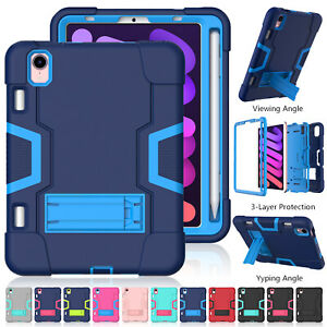 Shockproof Heavy Duty Hard Case for iPad mini 6 7 8th Gen Air Pro 11 2021 Cover