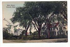 NORWELL MASSACHUSETTS PC Postcard MAIN STREET Curtis Bates MASS MA Houses