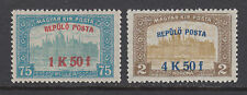 Hungary Sc C1-C2 MLH. 1918 First Airpost w/ surcharges, cplt set