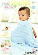 Stylecraft 9348 Knitting Pattern Baby Blankets in Special for Babies Chunky