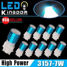 10x White 3157 3156 High Power 7W Turn Signal Tail Brake Stop LED Light Bulbs