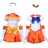 Sailor Moon: Venus Serena School Dress Set Woemn Costume for Holloween Party