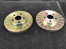 FOR TOYOTA CELICA 1.8 2.0 GROOVED FRONT BRAKE DISCS 255MM 94 - 99