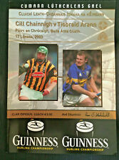 2003 GAA KILKENNY v TIPPERARY All-Ireland Hurling S-Final Programme