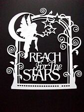 4 x Tonic Reach For The Stars Frame Die Cuts With Sentiments, White.