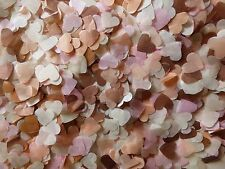 2000 Rose Gold/Peach, Pink Ivory Hearts/Wedding Confetti/Celebration/Decoration
