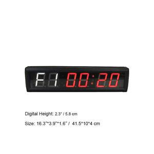 Gym Crossfit Clock Big LED Interval Timer Fitness Wall Gym Digital Stopwatch