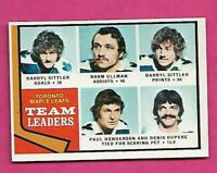 1974-75 TOPPS # 219 LEAFS DARRYL SITTLER TEAM LEADER NRMT+  CARD (INV# A8448)