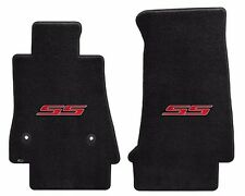 NEW! BLACK Carpet Floor Mats 2016-2020 Camaro Embroidered Red SS Logo  Set of 2
