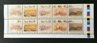 1990 AUSTRALIA SE-TENANT STRIP OF 10 x 41c CENT 'GOLD FEVER' MNH STAMPS