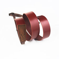 LeaTure Brown 120cm Genuine Leather Camera Neck Strap Universal for Sony, Nikon