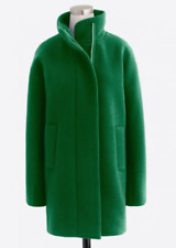 JCrew NWT Green Tawny Jade Wool City Coat Size 00