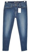 Levis SUPER SKINNY Dark Blue Mid Rise LEGGING Stretch Crop Jeans Size 12 W30 L32