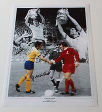 "FRANK McLINTOCK Arsenal Hand SIGNED Autograph 16"" X 12"" Photo Montage + COA"