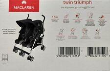 Maclaren Twin Techno Zwillingsbuggy - neu & unbenutzt - Zweisitzer Kinderwagen
