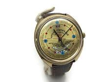 Vintage USSR gold plated mens watch RAKETA Artel starateley Amur for GOLD lovers
