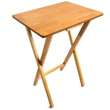 Folding Snack Table Wooden Antique Pine Desk Foldable Portable Dining Laptop