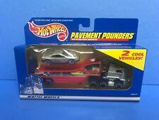 1999 Hot Wheels Pavement Pounders car Set with 2 Cool Vehicles Ferrari 348
