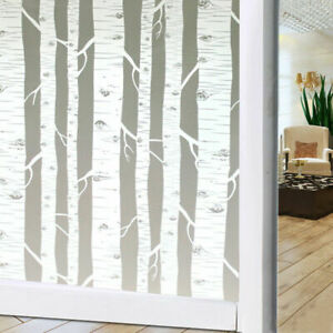 Window Film 3D Decor Frosted Privacy Glass Film Static Cling for Living Room