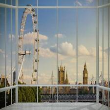 1 WALL GIANT PHOTO WALLPAPER LONDON WINDOW SCENERY VIEW POSTER MURAL 3.15x2.32m