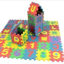 36PC Alphabet Play Floor Mat Colourful Kids Interlocking Baby Soft EVA Foam Jigs